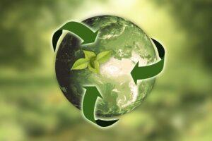 Vihreä maapallo.